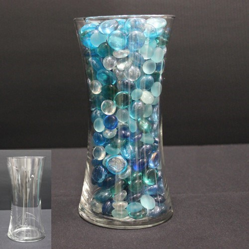 Tall Hourglass Clear Vase Stony Point Hall