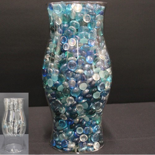Clear Hurricane Vase No Bottom Stony Point Hall