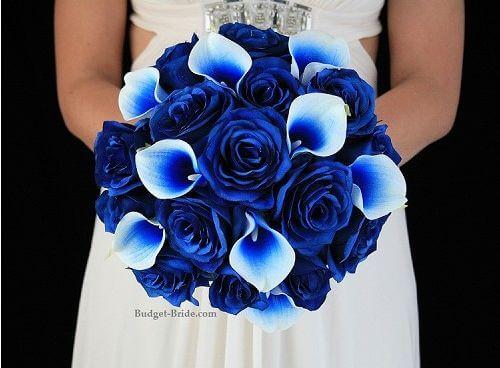 electric blue bouquet