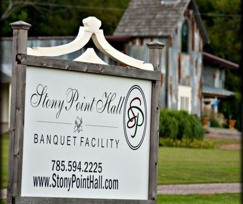 Old Stony Point Hall Sign