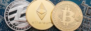 Bitcoin, Ethereum and Litecoin